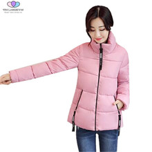 2017 New Autumn Winter Women Coat Female Slim Down Cotton Jacket Coat Thick Parkas Short Cotton Jacket TNLNZHYN E165