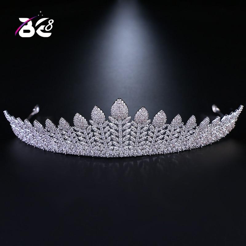 купить Be 8 New 2018 Cubic Zirconia Wedding Crown Bridal Head Jewelry Woman Tiara Hair Accessories Engagement Gifts H047 по цене 3199.96 рублей