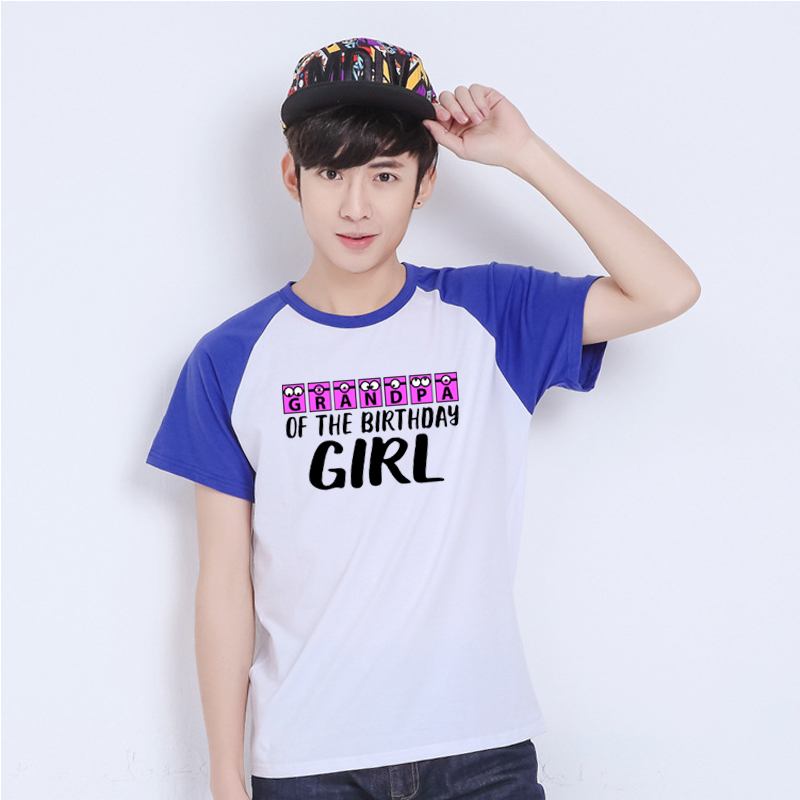 LYTLM Grandpa of the Birthday Girl 14 Year XXX Happy Birthday T Shirt Roupa De Menina Anime Shirt Raglan Sleeve Summer Top 2019(China)