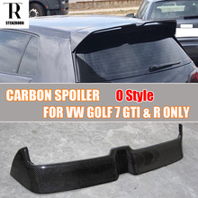 MK7 GTI O Style Carbon Fiber Rear Roof Trunk Wing Spoiler for Volkswagen Golf 7 VII MK 7 GTI & R 2014 2015 2016 2017