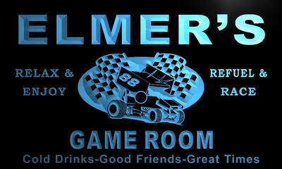 x0218-tm Elmers Pit Stop Game Room Custom Personalized Name Neon Sign Wholesale Dropshipping On/Off Switch 7 Colors DHL