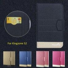 2016 Супер! Kingzone S2 Чехол Для Телефона, 5 Цветов Фабрики Сразу Высокое качество Оригинальный Роскошный ультратонкий Кожаный Защитный Чехол