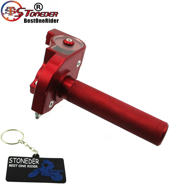 US $28 0 19% OFF|STONEDER CNC Throttle Tube With Speed Limiter Bolt For Pit  Bike Motocross Honda Yamaha Suzuki Kawasaki KTM CRF50 SSR YCF IMR-in Fuel