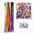 Christmas Decor Hair Roots Twisted Rods DIY Handmade Material Puzzle Creative Wave Plush Bars Children Toys Black White Eyes