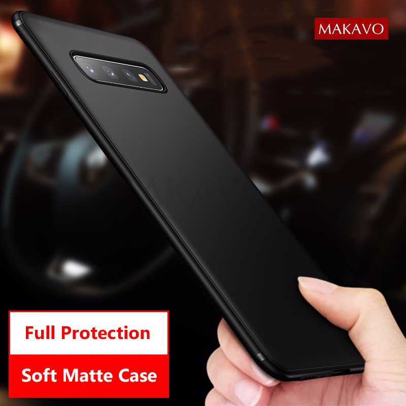 MAKAVO For Samsung Galaxy S10 Case Slim Matte Soft Cover Cases For Samsung S10 Plus S10e Phone Cases(China)