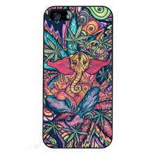 Funny Trippy Elephant Hot Fashion High Quality Black Bag Case For iPhone 6S Plus