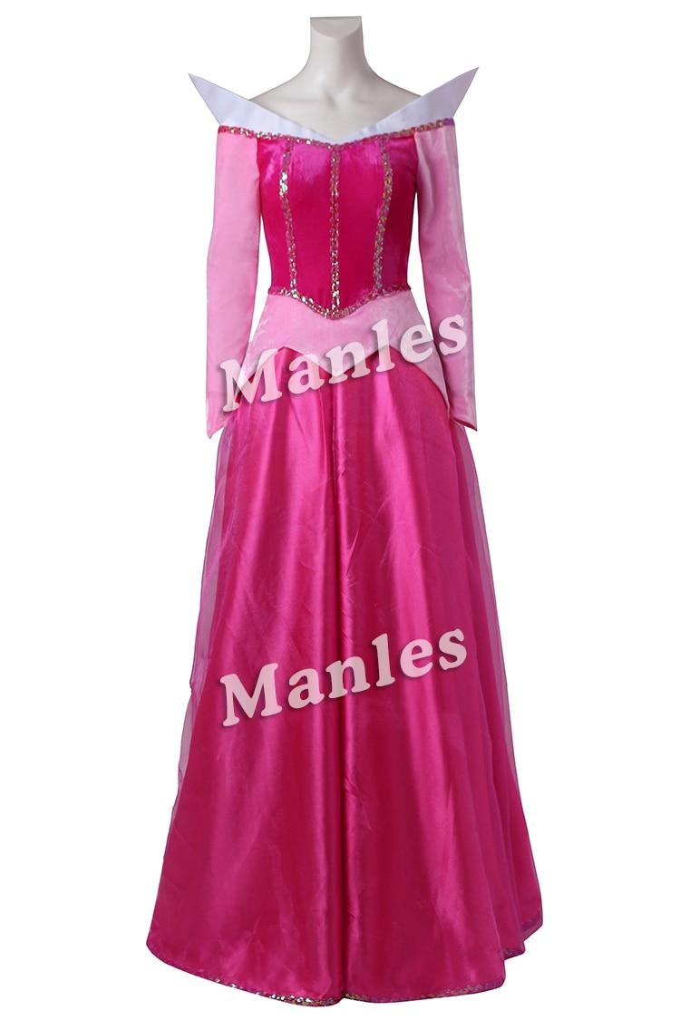 Sleeping Beauty Cosplay Costume Princess Aurora Pink Red -8503