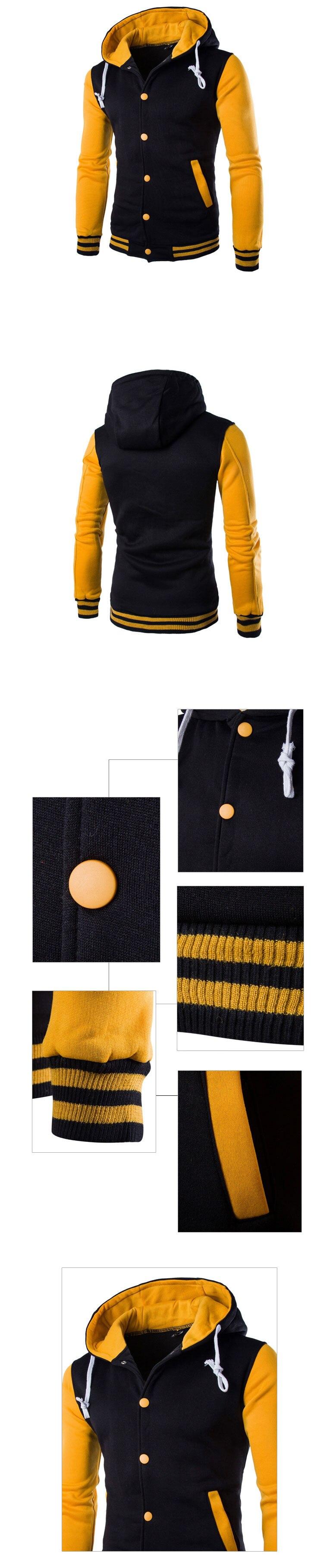 Mens Hoodie Baseball Jacket Men 2018 Fashion Design Black Mens Slim Fit Varsity Jacket Brand Stylish College Jacekt Veste Homme