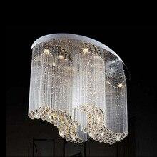 Бесплатная доставка новый современный овальный хрустальная люстра роскошные люстры cristal лампы флеш свет для дома/магазин/гостиница