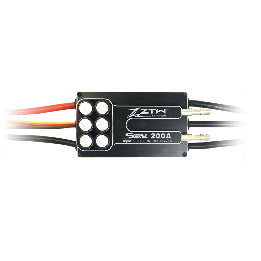 ZTW ختم 200A SBEC 8A 8 S فرش ESC الأداء الرائع ل RC قارب مع الأمام و عكس اثنين طريقة-في قطع غيار وملحقات من الألعاب والهوايات على  مجموعة 2