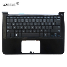 GZEELE new US laptop keyboard palmrest for samsung NP900X3A 900X1B 900X1A 900X3A-A01 900X3A-B01 English C shell Topcase cover