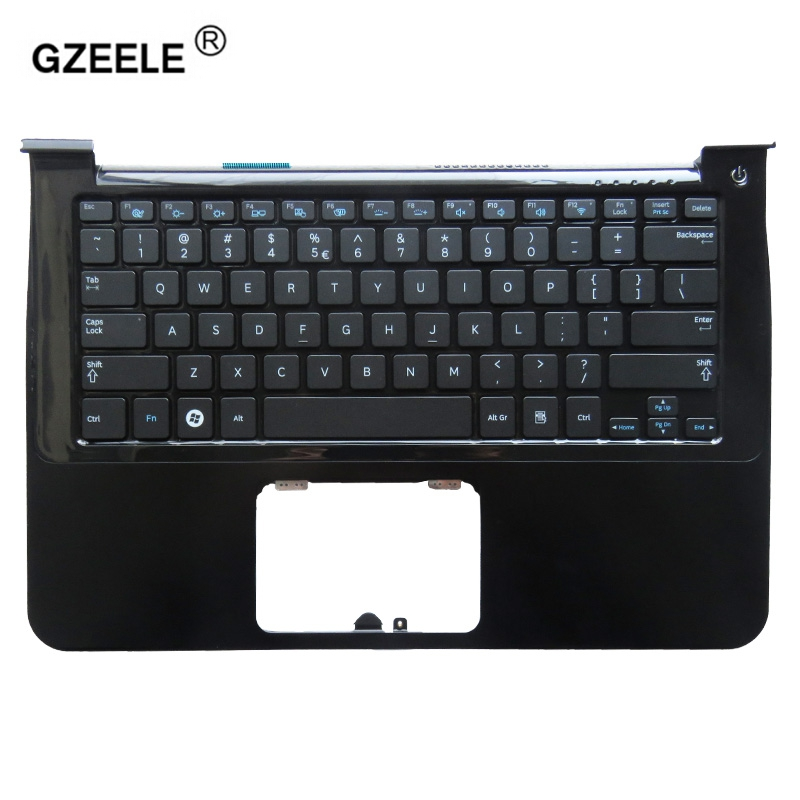 GZEELE new US laptop keyboard palmrest for samsung NP900X3A 900X1B 900X1A 900X3A-A01 900X3A-B01 English C shell Topcase cover new laptop keyboard for samsung np900x3a 900x3a ru russian layout
