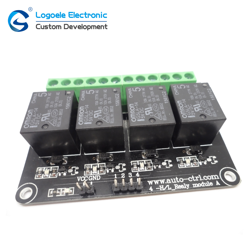 4 road relay module 12 v high level trigger relay four road extension board
