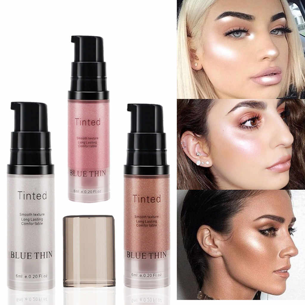 1pcs Face Highlighter Cream illuminator makeup bronzer highlighter for face contouring liquid highlighter Maquiagem YJ2