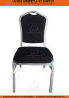 Steel hotel chair LUYISI103025S,Commercial fabric,powder coating finish,5pcs/carton,safe package