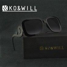 KOWILL Sunglasses Women Brand Designer Cat Eye Sun Glasses Female Italy Designer Pra Style Square Frame Nail Sun Glass Gafas