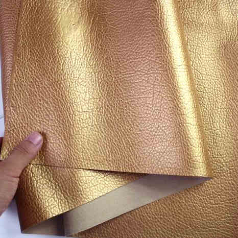 gold big lychee pattern pu synthetic leather faux leather fabric upholstery car interior sofa cover 54 wide per yard