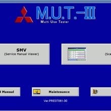 Для Mitsubishi M.U.T.-III пред 18031-00 [03,] диагностическое программное обеспечение