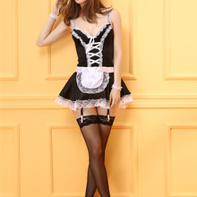 Maid Costume Sexy Lingerie Cosplay French Plus-Size Dress Apron Miniskirt Servant Exotic