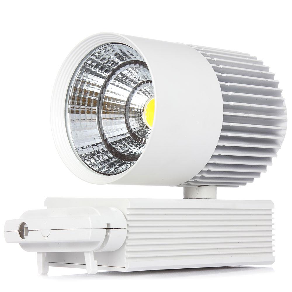 ФОТО 1pcs 20W COB LED Track Light Clothing Store Tracking Spot Lighting Ultra Bright For Chandelier AC85V~265V Ceiling down light
