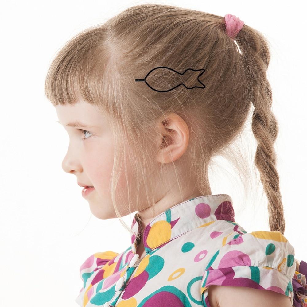 Black Word Folder Barrettes for Children Baby Hair Clips for Girls