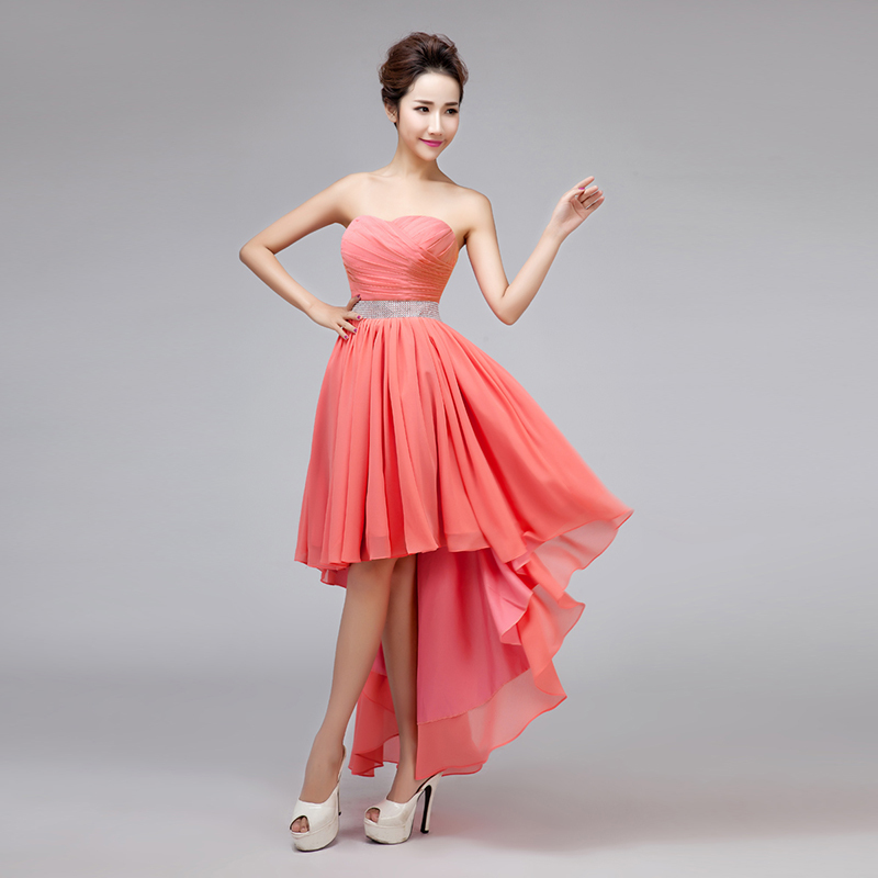 Online Get Cheap Coral High Low Bridesmaid Dresses -Aliexpress.com ...