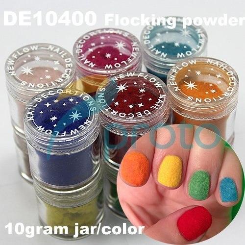 New Fashion 12 Pots 3D Nail Art Color Flocking Powder Nails Velvet Art Set Dropshipping [Retail] SKU:D0063