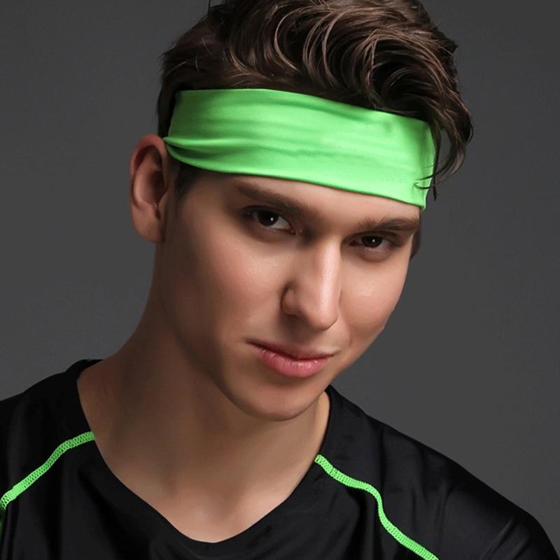 0aeff9a78 Poliéster de alta calidad hombres deportes Sweatband de Yoga mujeres Yoga  bandas para el cabello de la cabeza de sudor bandas en Cintas para sudor de  ...