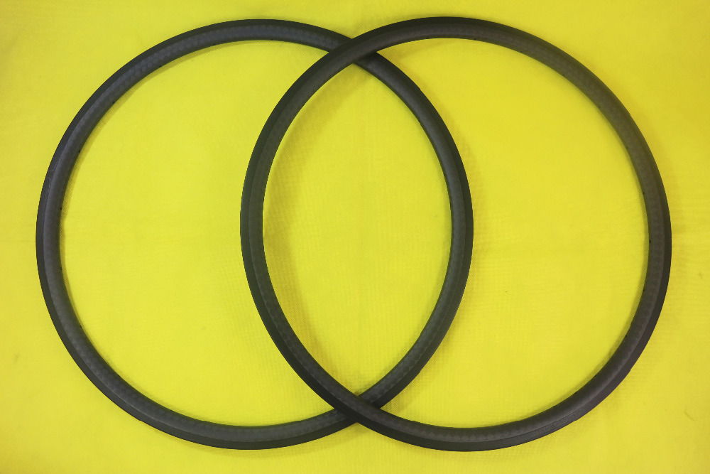 700C 30mm clincher road bicycle carbon rims 24mm wide UD 3K twil 12K matte glossy 30C