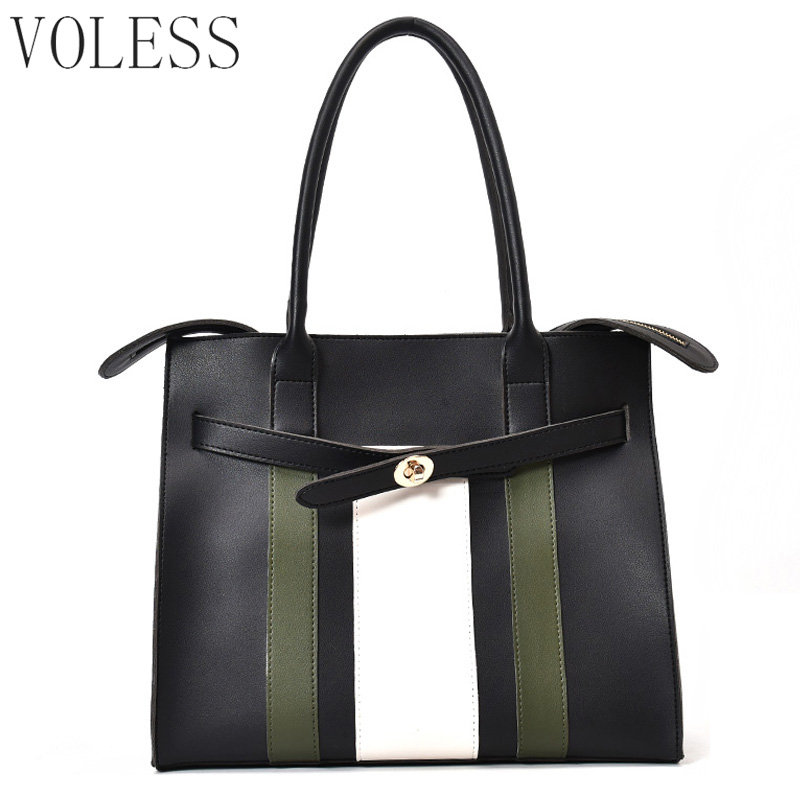 Patchwork Women Casual Totes Bags High Quality Pu Leather Handbag Women Bags Large Capacity Vintage Brand Ladies Shoulder Bag