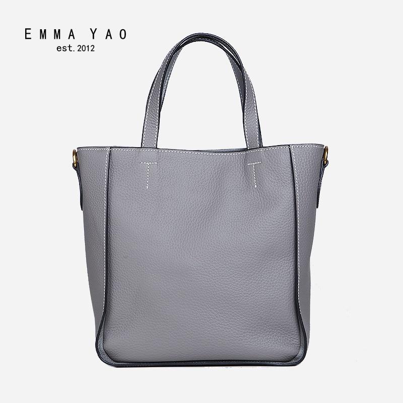 ab29eebc9 EMMA YAO skórzane torebki damskie moda koreański marka panie messenger  torby dużego ciężaru torba na zakupy