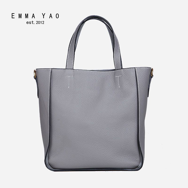 EMMA YAO women's leather handbag fashion korean tote shopping bag brand ladies messenger bag emma yao leather women bag fashion korean tote bag new designer women messenger bags