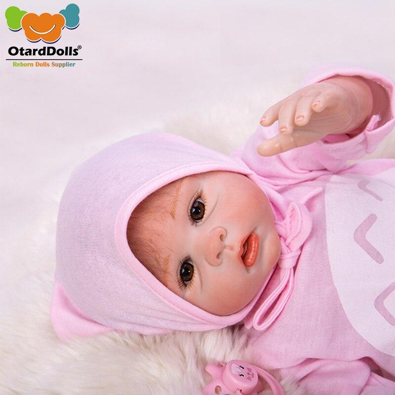 Otardpoupées Boneca Reborn 20 pouces silicone souple vinyle poupées 50 cm bebe reborn bébé poupée nouveau-né réaliste pour enfants cadeau de noël