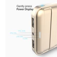 USAMS Universal 10000 mAh for Xiaomi power bank Dual USB Portable phone Charger 10000mAh mini Powerbank portable charger