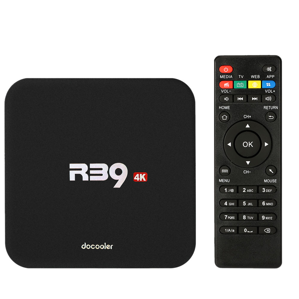 2018 HOT SALE Cheap docooler R39 Smart TV BOX Android 8.1 TV Box RK3229 Quad Core UHD 4K 2GB16GB WiFi H.265 HD Media Player