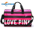 Chuwanglin New Rose red stripes  bag Travel bag single Shoulder slope package handbag women travel bag  luxury  ZD8293