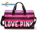 Chuwanglin New Rose red stripes bolsa paquete bolso de las mujeres bolsa de viaje bolsa de Viaje solo Hombro pendiente de lujo ZD8293