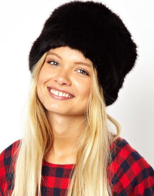 Moda inverno Tampa Chapéus Senhora Fluff Macio Quente da Pele Do Falso das Mulheres Gorros Ouvido Proteger Chapéu Chapelaria Cocar Bonito Ocasional