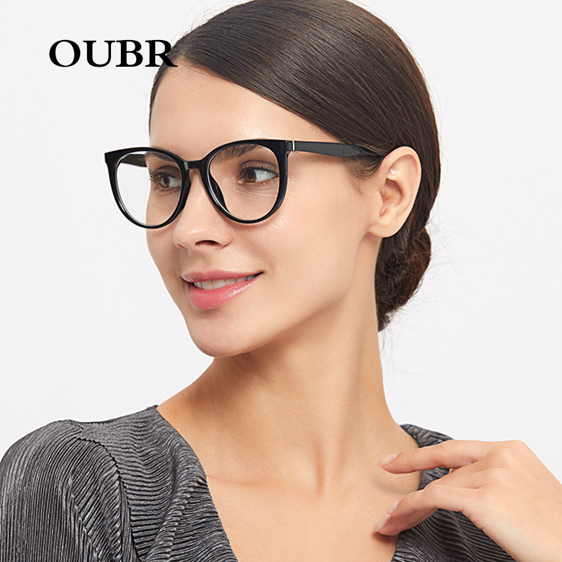 OUBR ladies trend brand black red glasses frame ladies computer optical glasses frame men and women general fashion glasses in Men 39 s Eyewear Frames from Apparel Accessories
