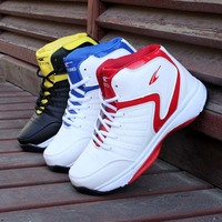 Men High top Basketball Shoes Men's Cushioning Light Basketball Sneakers Breathable Athletic Shoes Outdoor Sport Sneakers