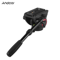 Andoer TP 65 Aluminum Fluid Drag Hydraulic Head Three Dimensional Tripod Head Panoramic Shooting for Photography Video Recording