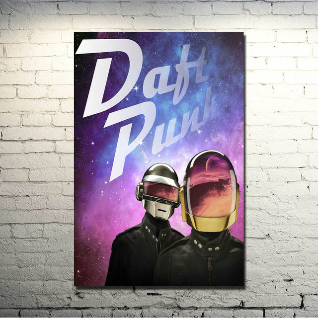 Daft Punk Music Singer Star Art Silk Fabric Poster Print 13×20 24×36 inches Pictures For Bedroom Decor (click to see more)