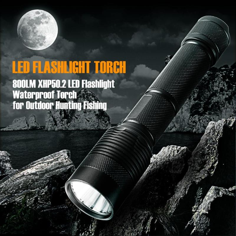 3800LM XHP50.2 LED Flashlight IP65 Waterproof Torch Outdoor Camping Fishing Hunting Caving Light Portable LED Flashlight uniquefire uf 1200 super bright cree u2 lamp flashlight light from outdoor hiking night fishing hunting led flashlight
