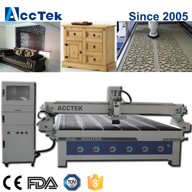 High Precision Fast Speed AKM2040 Big Size 3 Axis CNC Wood Router Machine For Sale AKM2030