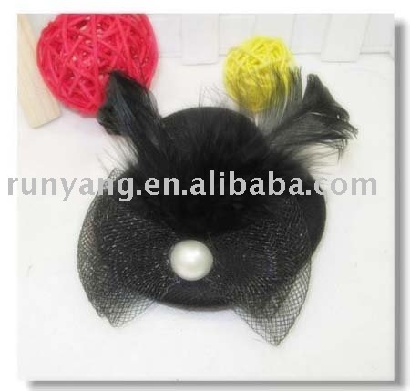party hat,feather fascinator,fashion hair accessory for adult costume,cocktail party