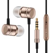 2016 Nuevo Metal Auriculares Super Bass Con Micrófono Control de Volumen Del Auricular Para ASUS ZenFone Max ZC550KL Auriculares Auriculares