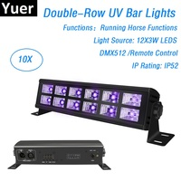 Free Shipping 12 LEDS 3W UV Color Wall Wash Lights DMX512 Dj LED UV Stage Light Bar Black Party Club Disco Lights Indoor Use