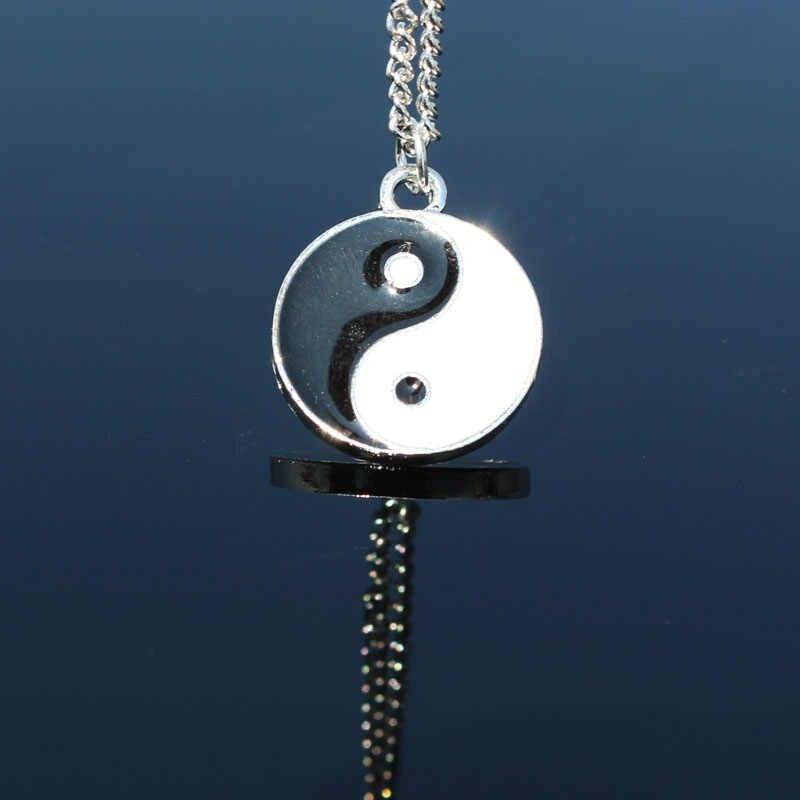 1 CHIẾC Taichi Hình Mặt Dây Chuyền Vòng Cổ Dành Cho Nữ Yinyang Ba Gạc Vòng Cổ Trung Quốc Hình Xăm Dây Chuyền Colar Trang Sức Thời Trang