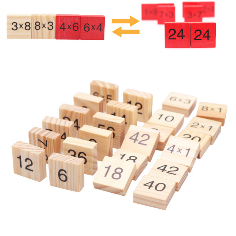 Montessori Wood Multiplication Table Wooden Children Educational Toys 99  Arithmetic Math Toy Figure Building Blocks Christmas Gift (5)