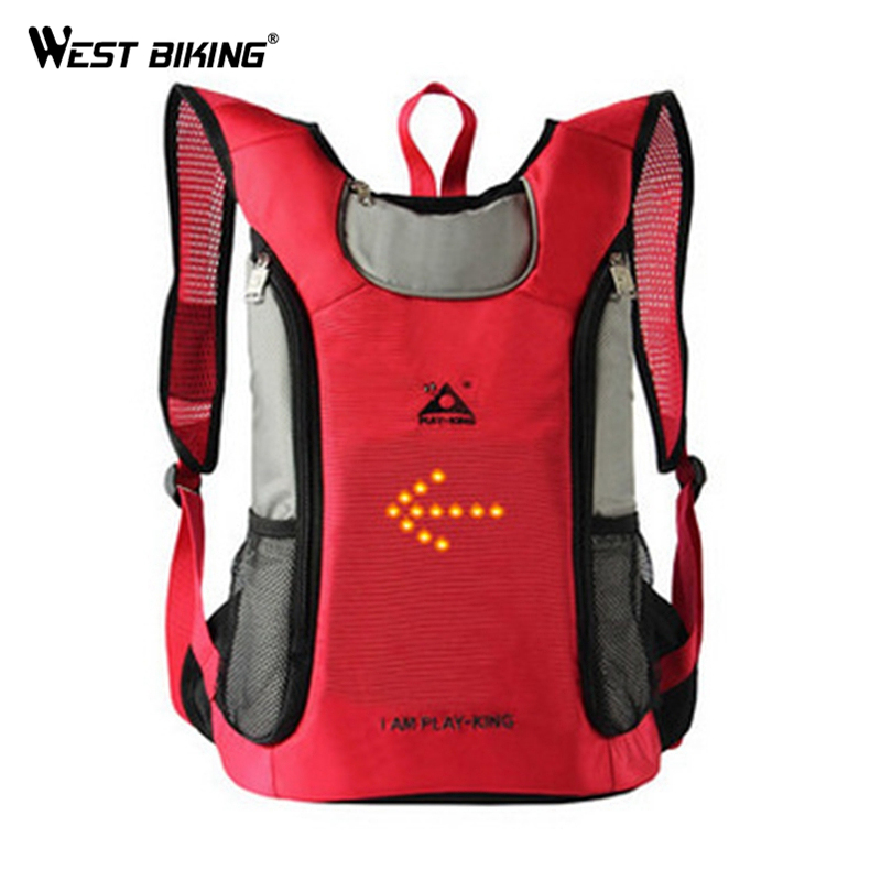 Turn Signal Lamp Riding Backpack MTB Outdoor 18L Suspension Breathable Outdoor Riding Backpack Riding Bicycle Cycling Should Bag bicycle backpack mtb outdoor enquipment 40 l suspension breathable panniers cycling backpack climbing riding bicycle bike bag